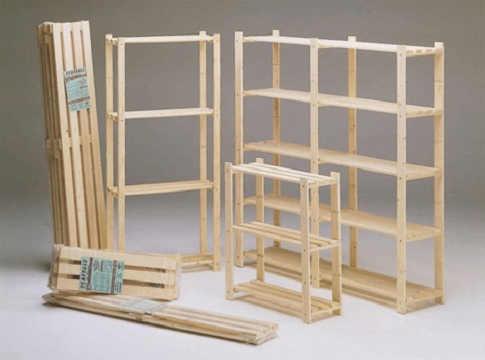 Scaffale legno fai da te for Costruire uno scuro in legno