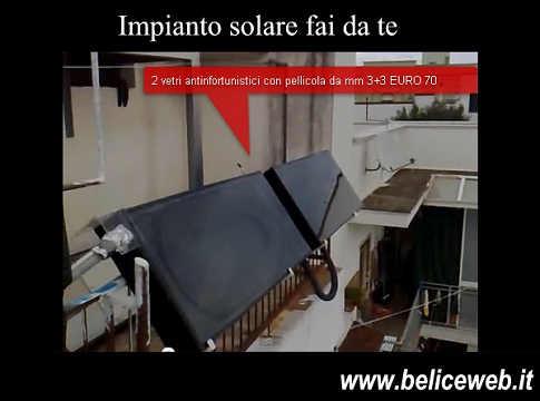 Come fare un impianto solare fai da te spendendo for Essiccatore solare fai da te